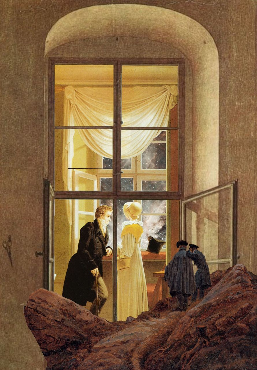 bild fenster mann paar caspar david friedrich von a hatter bei kunstnet. Black Bedroom Furniture Sets. Home Design Ideas