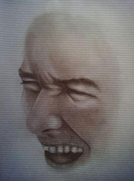 Mann, Gesicht, Mund, Schrei, Mimik, Zähne