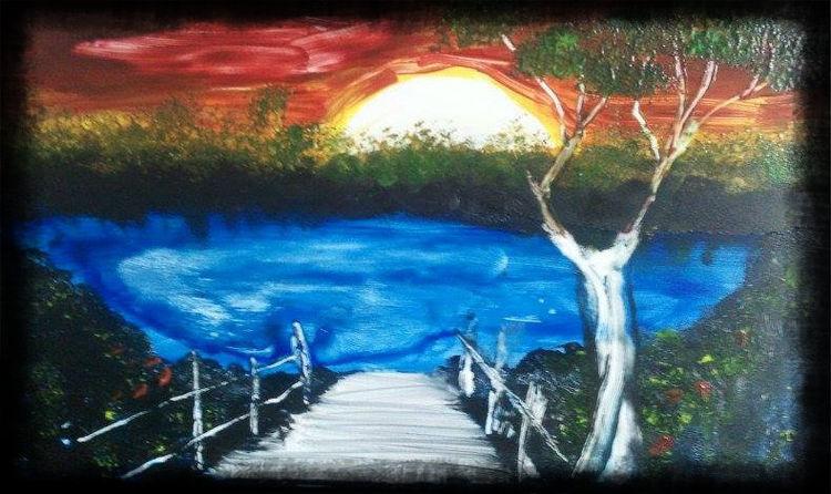 Ausspannen, Malerei