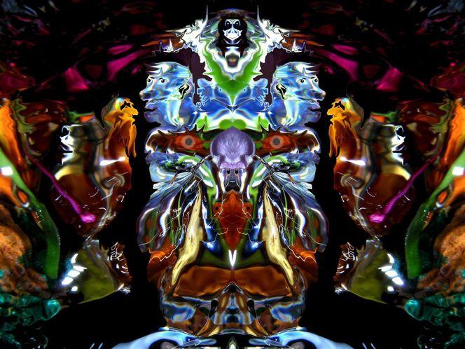 Quelle, Farben, Reflexion, Zufall, Mystik, Traum