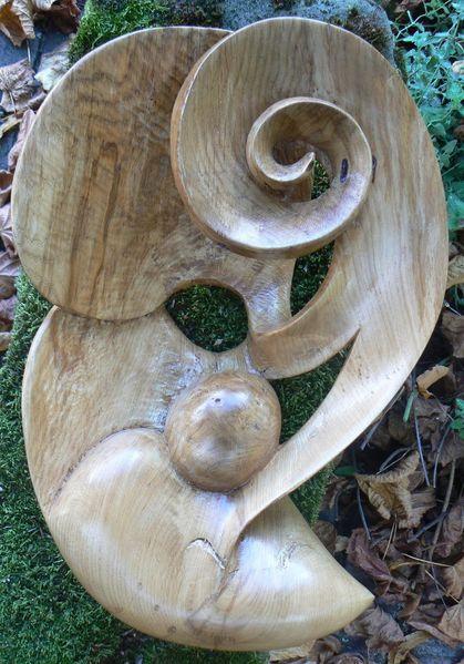 Abstrakt, Eichen, Holz, Spirale, Fantasie, Plastik