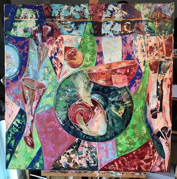 Landschaft, Malerei, Farben, Stillleben, Modern, Acrylart