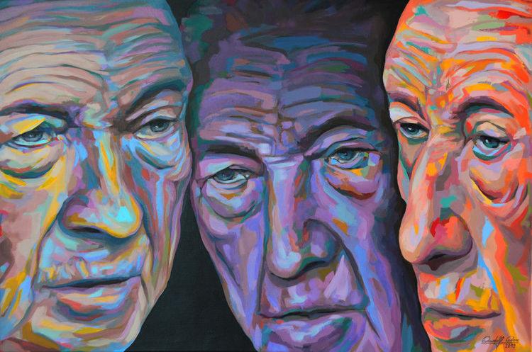 Expressive malerei, Acrylmalerei, Expressionismus, Porträtmalerei, Zeitgenössische kunst, Portrait