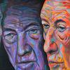 Porträtmalerei, Zeitgenössische kunst, Portrait, Expressive malerei