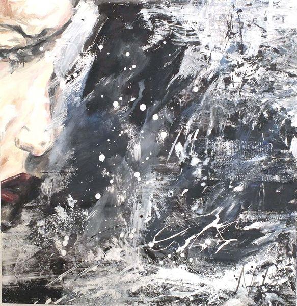 Frau, Angst, Malerei