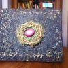 Nest, Pigmente, Holzwolle, Ei