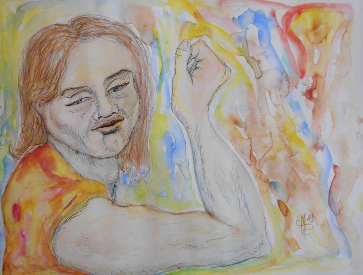 Aquarellmalerei, Tuschmalerei, Bruder, Karikatur, Zeichnungen, Welt