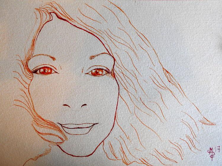 Portrait, Zeichnungen, Zart,