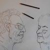 Zeichnung, Skizze, Menschen, Charakterstudie