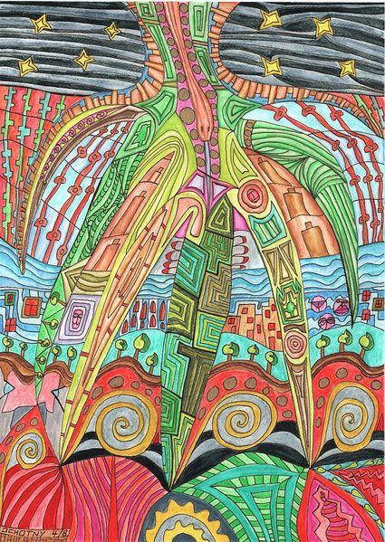 Malerei, Paradies, Schlange