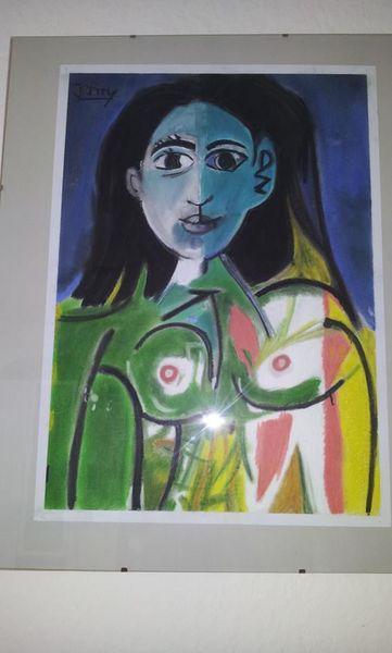 Malerei, Picasso, Frau