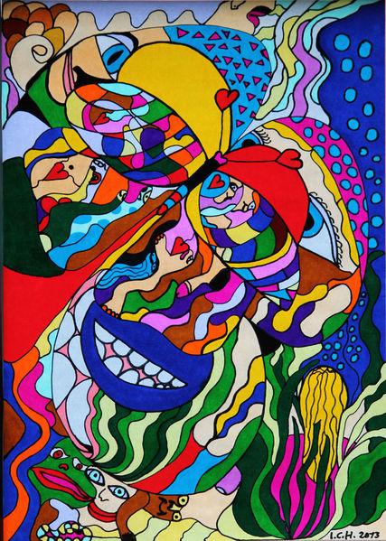 Wasser, Fantasie, Malerei