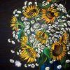 Blumen, Buntstiftzeichnung, Herbst, Kamille