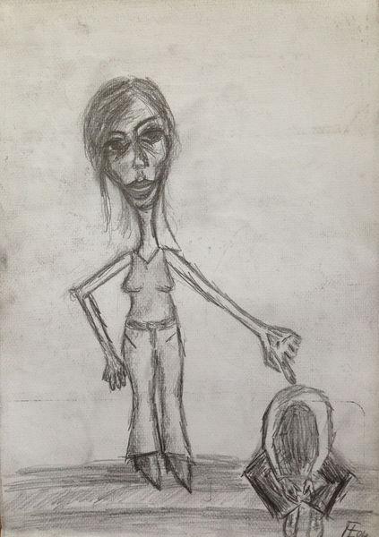 Mutter, Macht, Ohnmacht, Zeichnungen, Mutterliebe