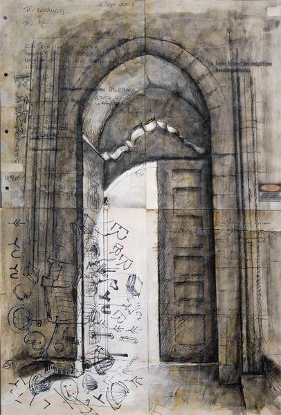 Architektur, Illustrationen, Architektur mensch, Tür