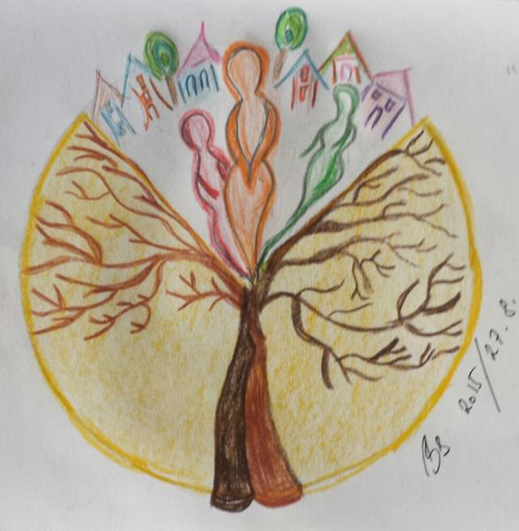 Braun, Baum, Haus, Seele, Zeichnungen