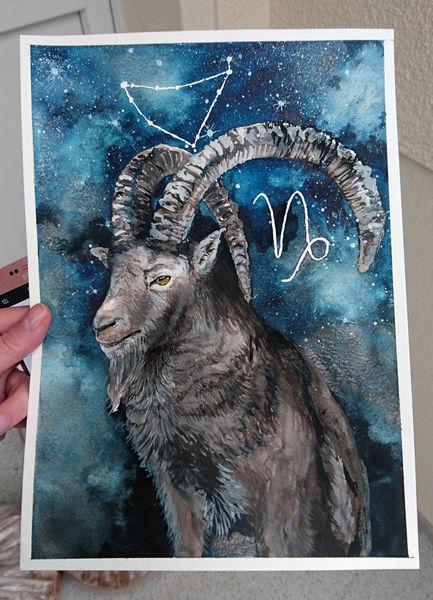 Steinbock, Tiere, Sternzeichen, Realismus, Horoskop, Portrait