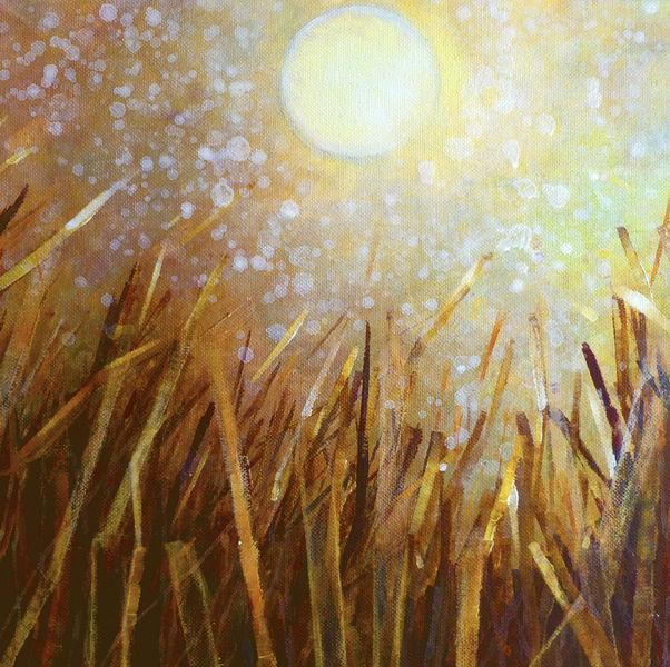 Stroh, Feld, Gold, Licht, Sonne, Malerei