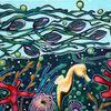 Unterwasserwelt, Meer, Seepferdchen, Malerei