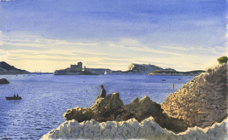 Frankreich, Realismus, Malerei, Licht, Blau, Mittelmeer