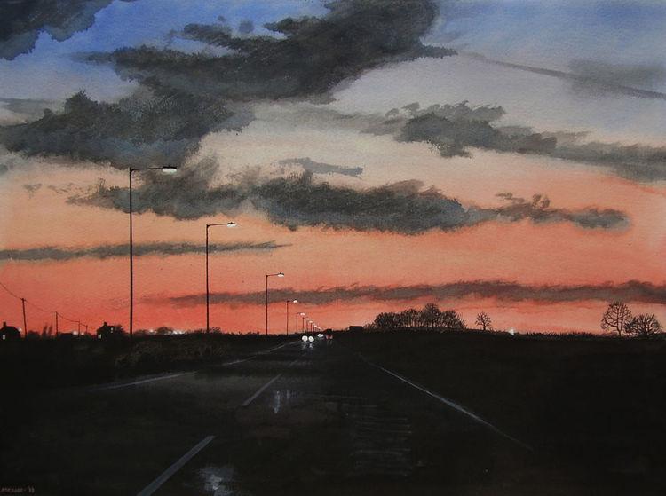 Wolken, Realismus, Reise, Rot, Himmel, Aquarellfarben