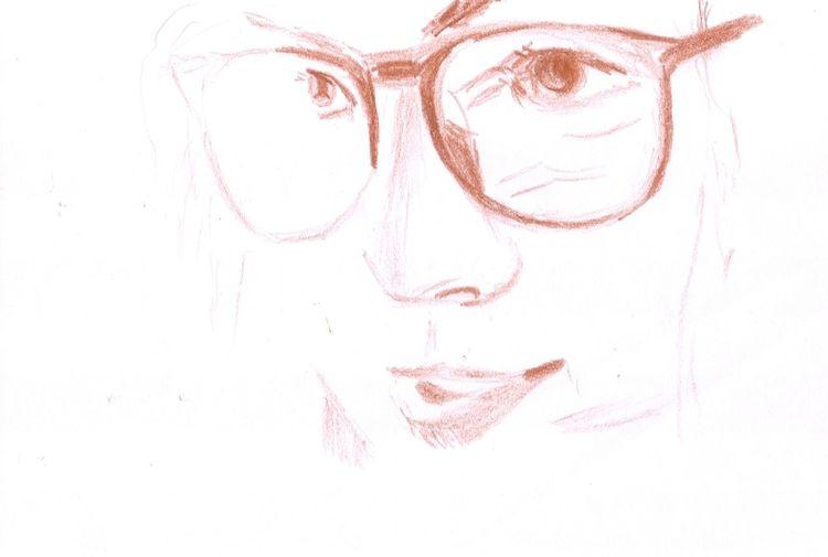 Gesicht, Portrait, Brille, Frau, Augen, Zeichnungen