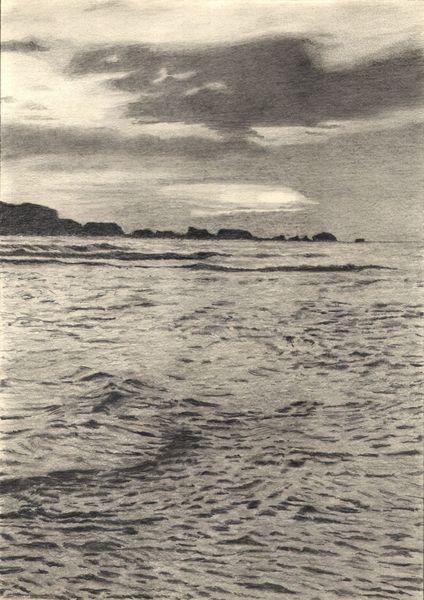 Welle, Zeichnung, Himmel, Felsen, Bleistiftzeichnung, Meer