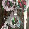Grün, Schwarz weiß, Portrait, Violett