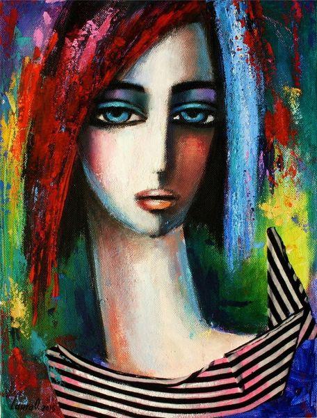 Portrait, Ölmalerei, Frau, Malerei