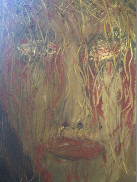 Körper, Rot, Seele, Ölmalerei, Blut, Mann
