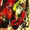 Portrait, Pastellmalerei, Mischtechnik, Abstrakt