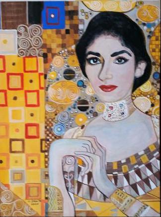 Gemälde, Heinz, Speyer, Malerei, Callas, Portrait