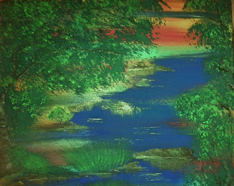 Baum, Hübsch, Wasser, Grün, Landschaft, Sonne