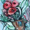 Rose, Blumentopf, Blumen, Aquarell
