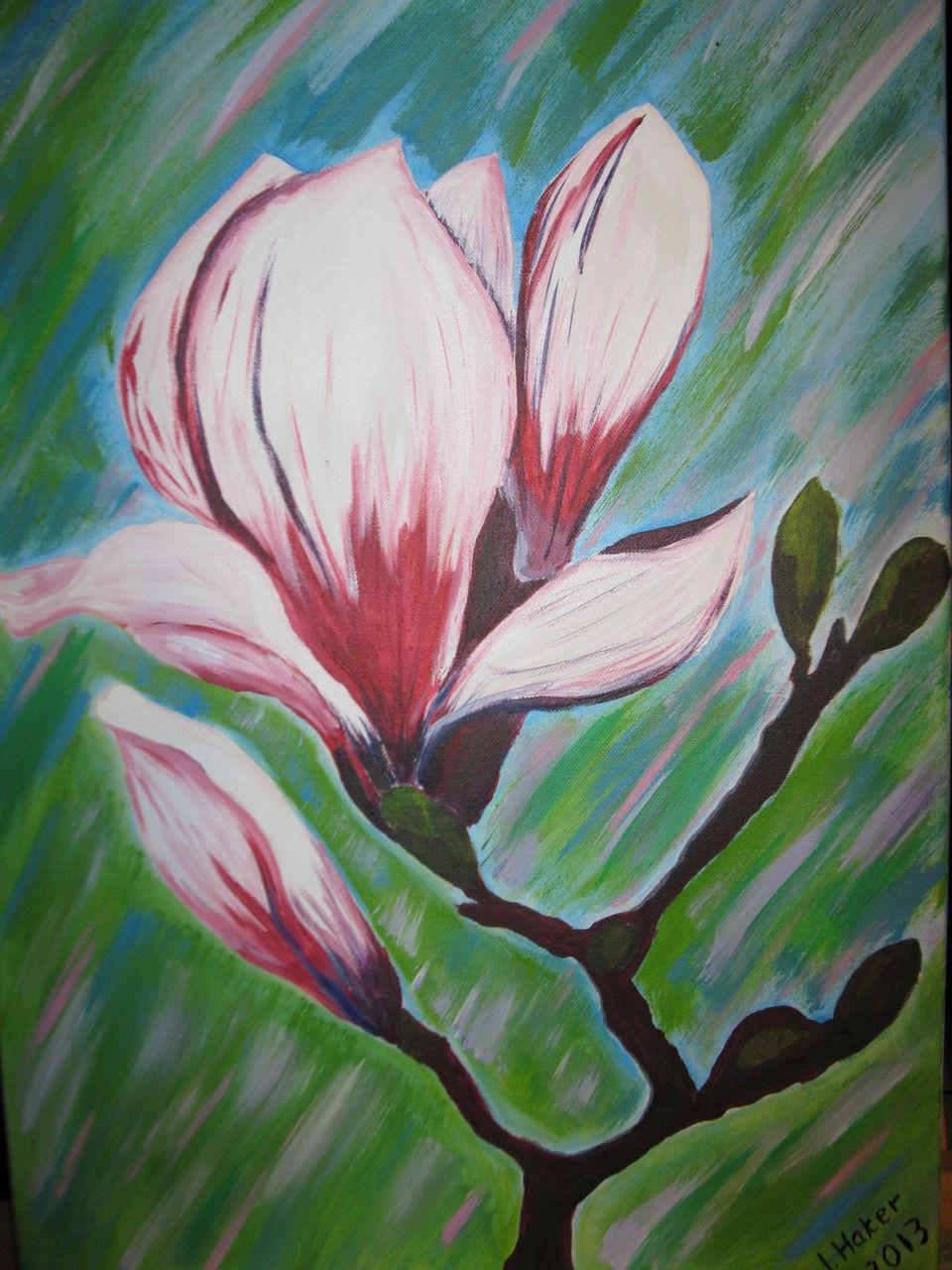 magnolie magnolie acryl magnolie malerei. Black Bedroom Furniture Sets. Home Design Ideas