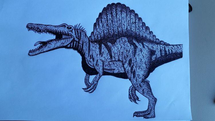 Spinosaurus, Zeichnen, Jurassicpark, Dinosaurier, Spino, Zeichnungen