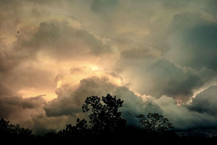Wolken, Sonnenuntergang, Weltuntergang, Fotografie, Himmel