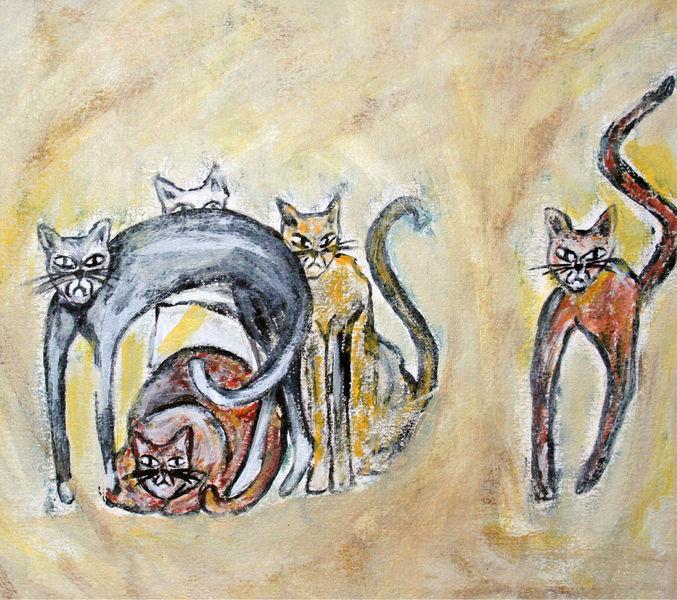 Katze, Malerei