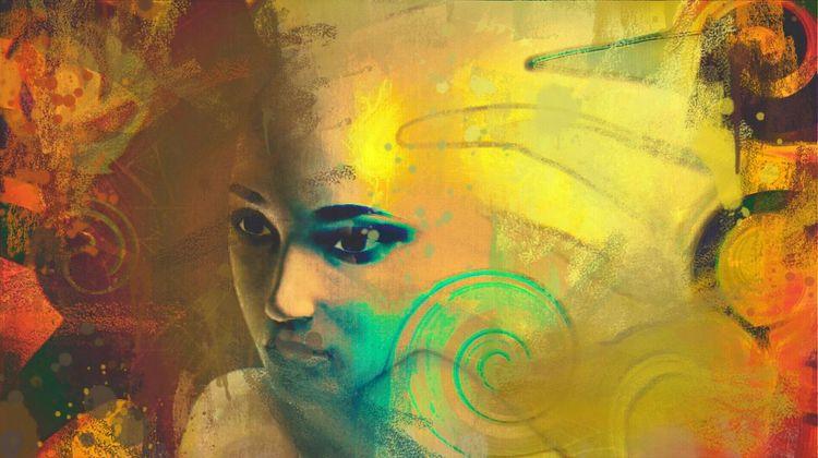 Bunt, Abstrakt, Portrait, Digital, Digitale kunst