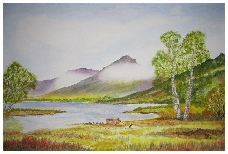 Aquarellmalerei, Landschaft, Malerei,