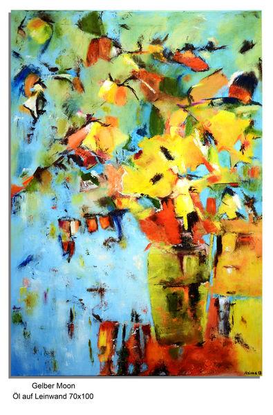 Landschaft, Blumen, Malerei, Natur, Ölmalerei, Abstrakt