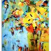 Landschaft, Blumen, Malerei, Ölmalerei