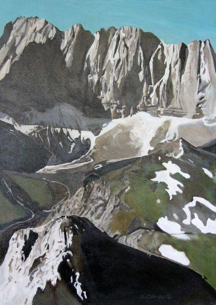 Berge, Karwendel, Laliderer wände, Alpen, Bergwelt, Malerei