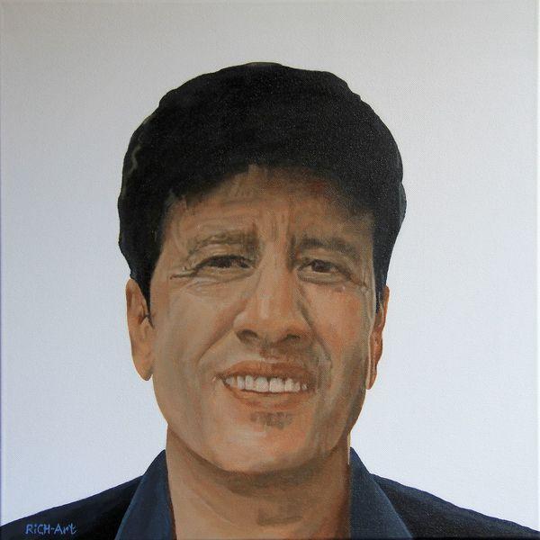 Portrait, Freunde, Mann, Malerei