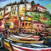 Sizilien, Malerei, Stadtlandschaft, Insel