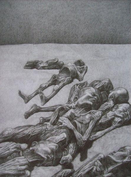 Tod, Masse, Menschen, Schwarz, Zeichnung, Schönheit