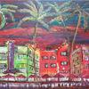 Bayside, Acrylmalerei, Miami, Malerei