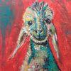 Schaf, Modern, Quadrat, Acrylmalerei