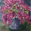 Vase, Flieder, Lila, Malerei