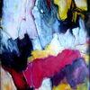 Abstrakt, Malerei, Fantasie, Mischtechnik